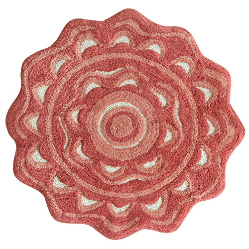 Spice Coral Unique Irregular Shaped Area Mat
