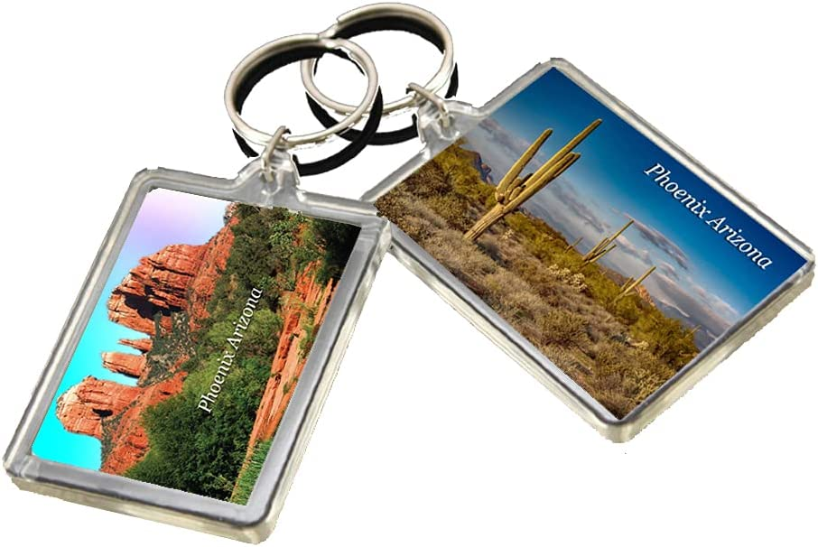 KR012 Phoenix Arizona City Keychain United States Travel Photo Keyring