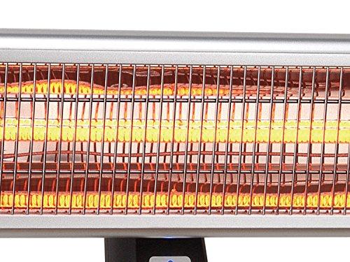 Traedgard® Infrarot-Heizstrahler Helgoland bis 1800 Watt mit Fernbedienung, 65 cm breit 64555 - 2