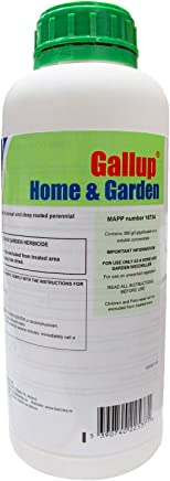 Barclay Gallup Home & Garden Glyphosate Commercial Strength Weed killer treats upto 1666 sq/m 1Lt Bottle | by Elixir Gardens