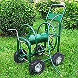 MasterPanel - Garden Water Hose Reel Cart 300FT Outdoor Heavy Duty Yard Planting W/Basket #TP3417
