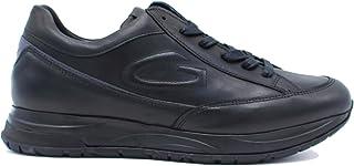 GUARDIANI Alberto Art.AGM004804 Sneaker Scarpa Sportiva Uomo in Pelle col Nero (Numeric_43)