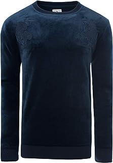 Soulstar Men's Sweatshirt Pullover Velvet Silk Rose Floral Printed