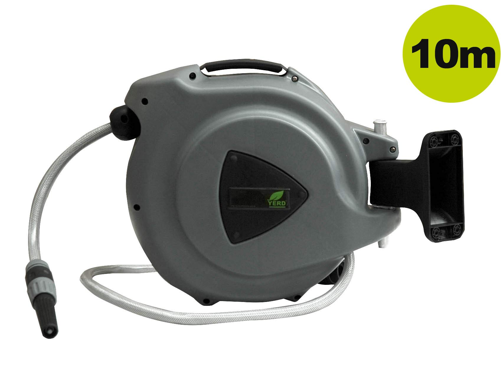 Enrollador automático de manguera de YERD / carrete porta mangueras o caja de manguera portátil con soporte