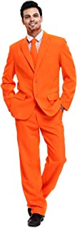 U LOOK UGLY TODAY Mens Party Suit Solid Color Leisure Suit for Holiday Party Jacket with..