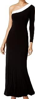 Womens Sequined One Shoulder Evening Dress