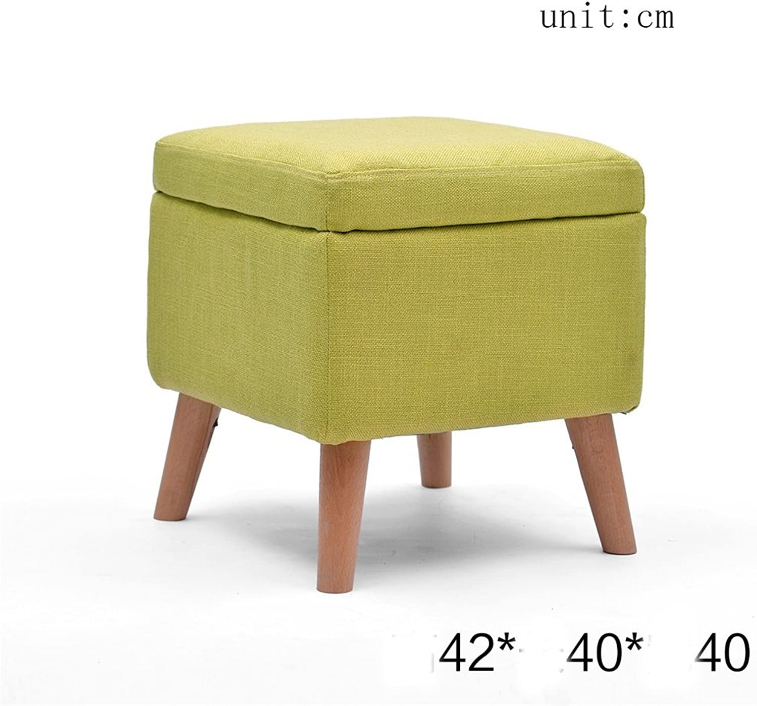 YUHUS HOME Stool Solid wood shoes stool Storage stool stool Sofa stool Coffee table stool Cloth makeup stool Storage stool - small stool (color   C)