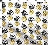 Ananas, Vintage, Deco, Mitte Des Jahrhunderts, Gold,