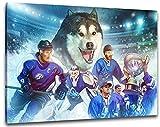 Kassel Eishockey, Fan Artikel Leinwandbild, Größe: