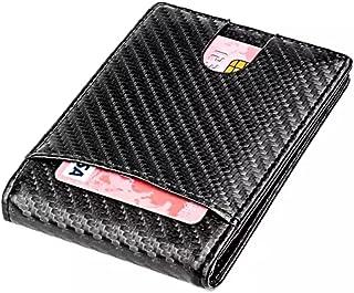 محفظة رجالية نحيفة للمال والبطاقة من ألياف الكربون خفيفة الوزن RFD حجب