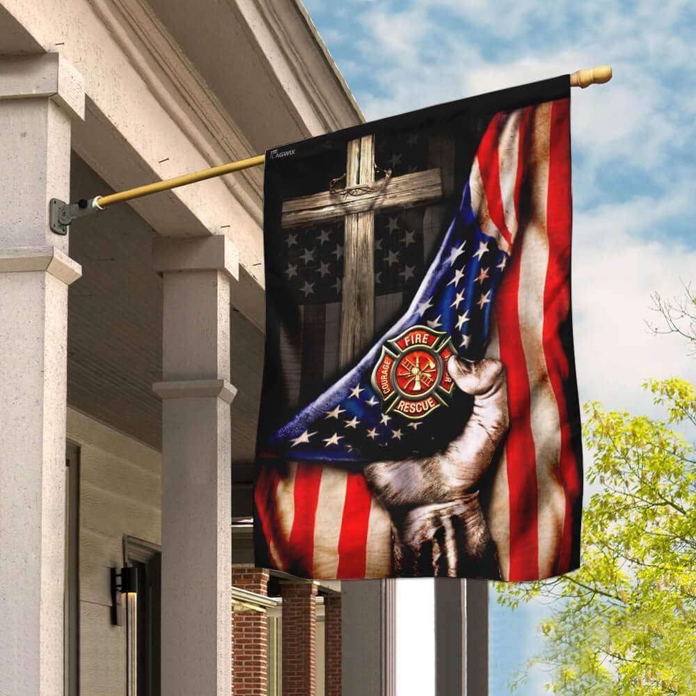 Flags-Firefighter Christian 現金特価 予約販売品 Cross Flag House THB2007F 29.