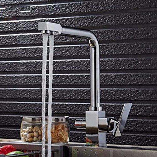 MulFaucet Cocina caliente y fría purificador de agua doble grifo grifo de fregadero agua giratoria