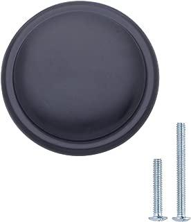 "AmazonBasics Button Mushroom Cabinet Knob, 1.25"" Diameter, Flat Black, 25-Pack"