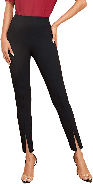 Raleigh Mall SweatyRocks Super special price Women's Elegant Elastic Waist High Pant Skinny