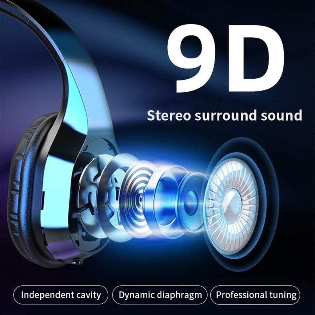 Drahtlose Bluetooth-Kopfh/örer /über Ohrger/äuschunterdr/ückende Kopfh/örer,au/ßergew/öhnlicher HiFi-Stereoton,faltbar,Lautsprecher und Kopfh/örerwechsel,24-Stunden-Spielzeit,3 Modi f/ür Reisen//Arbeiten