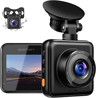 APEMAN Dual Dash Cam for Cars Front and Rear with Night Vision 1080P FHD Mini in Car..