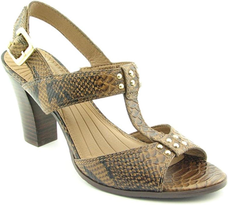 Circa Joan & David Hourglass Womens SZ 7.5 Brown Heels Slingbacks Open Toe shoes