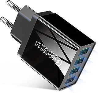 منفذ USB سريع للجوال USB متعدد شاحن جدار السفر شحن سريع 3.0 كشاحن USB للجوال، شاحن سريع 3.0 محول