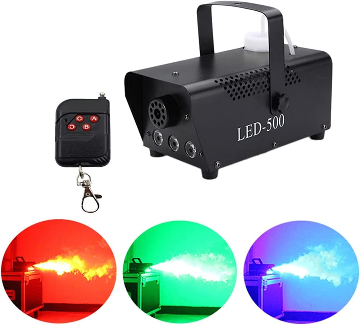 Fog Machine Large-scale sale Portable with Lights for Cheap super special price Color Halloween