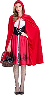 Little Red Riding Hood Costume for Women Halloween Adult Role Play Dress Up