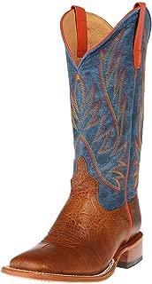 Mens Havana Bullfrog Cowboy Boots 10 M US Chocolate Horsebutt Green Wild West