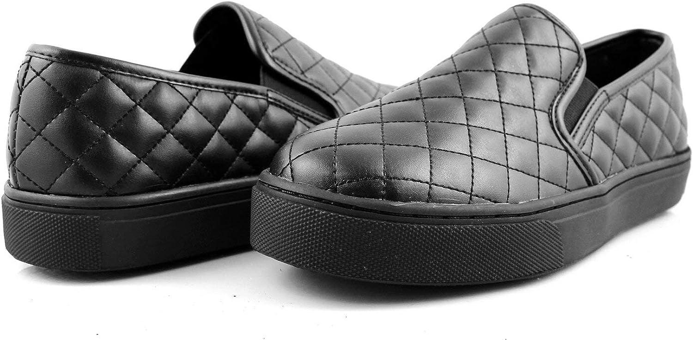 Laforst Candy Manmade Upper Slip Resistant Waitress Server Slip On Black Fashion Flat