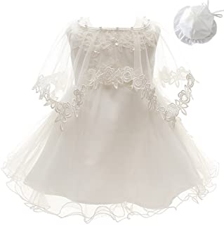 a9a113de9 3Pcs Set Baby Girl Dress Christening Baptism Gowns Formal Dress
