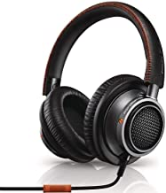 Philips Fidelio L2 Over-ear Premium Portable Headphones with In-line Mic, Noise Isolation, Hi-Res - Black/Orange (L2BO)