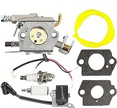 Butom Carburetor with Ignition Coil Repower Kit for Poulan 2200 2500 2600 2775 2900 3050 PP255 PP295 PP4620AVL PP4620AVX PP4620AVHD PP4620AV Gas Chainsaw