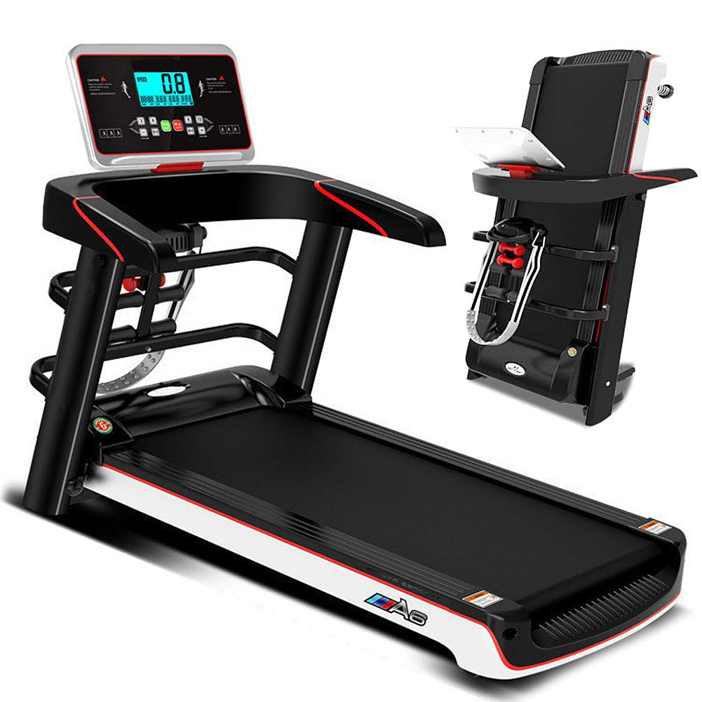Fitness Electric Treadmill, 2.0HP Folding Running Machine, Built-in 3 Countdown Modes & P1-P12 Program, Smart Exercise Running Walking Machine for Home Office Use, MAX Capacity 220 Lbs, 1-12.8KM/H