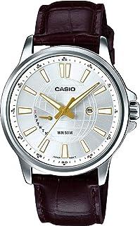 كاسيو ساعة للرجال - جلد - MTP-E137L-7AVDF