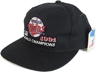 Sports Specialties(スポーツ スペシャリティーズ) MLB ミネソタ・ツインズ 1991 ワールドチャンピオン アジャスタブル キャップ (ブラック)