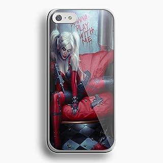 Harley Quinn Goth Batman For iPhone 5c white