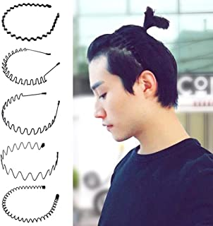5 PCS Metal Hair Hoop, Wave Headband Multi-Style Wavy Comb Hair Band Accesorios de Diadema Unisex para Mujeres y Hombres