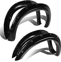 DNA MOTORING Black WF-TD07-BK Pocket-Riveted Style Side Fender Wheel Flares 4pc [for 07-13 Tundra]