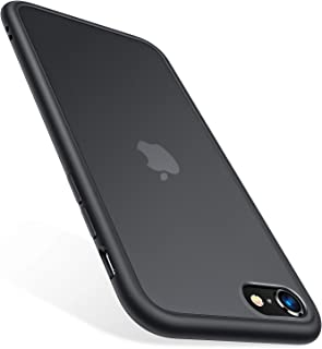 TORRAS Shockproof iPhone SE 2020 Case & iPhone 8 Case [Military Grade Drop Test] Translucent Matte Hard PC Back & Silicone TPU Bumper, Protective & Slim Fit for iPhone 7 case & SE2, Black