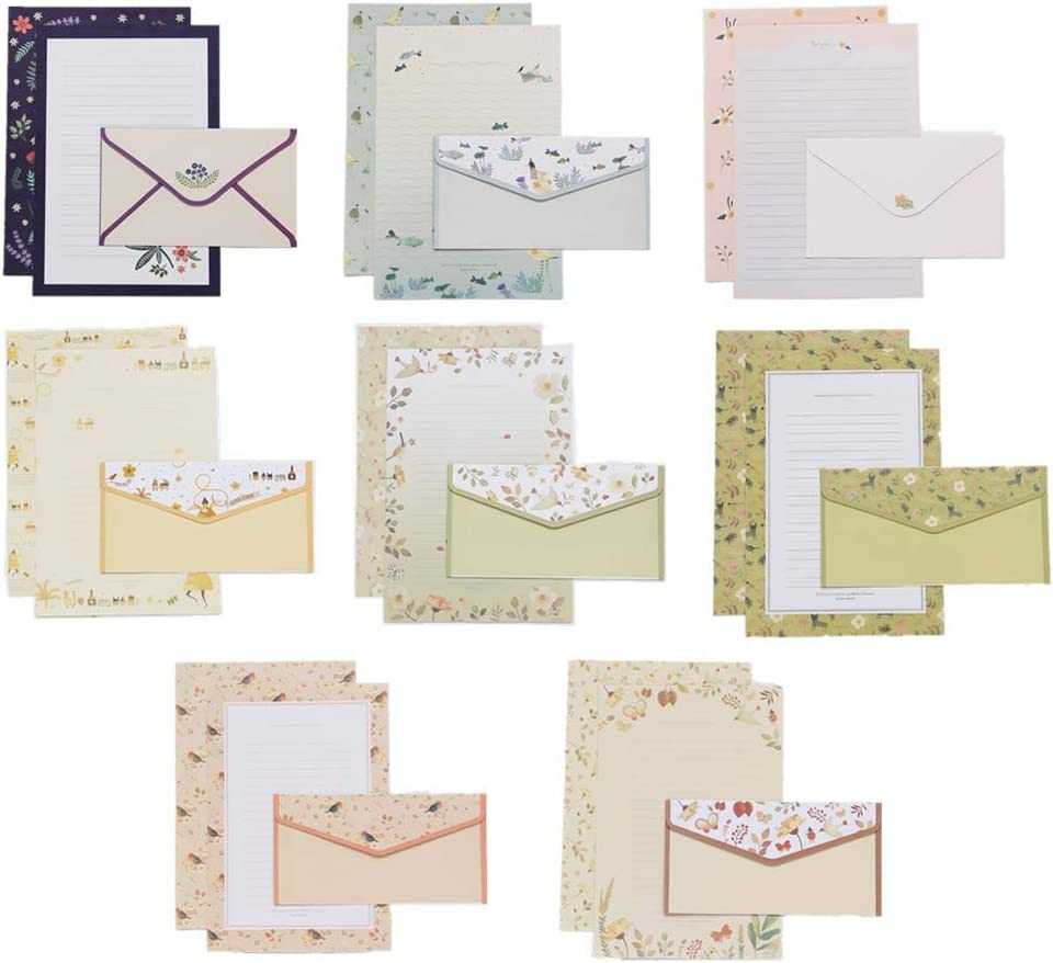 32 sweet floral writing paper Cheap mail order sales writi letterhead envelopes 16 Import with