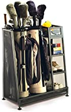Suncast Golf Bag Garage Organizer Rack - Golf Equipment Organizer Storage -  Store Golf Bags, Clubs, and Accessories - Perfect for Garage, Shed, Basement