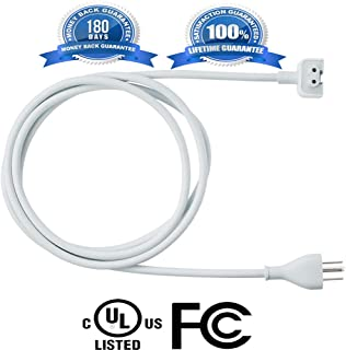 Mazon Genuine Power Adapter Extension Wall Cord Cable Compatible for Apple MacBook Pro Air Mini iBook MacBook AC Cord 29W,45W,60W,85W MagSafe 1 MagSafe 2 Models Prong 3 Us Plug-6 FT(Upgraded Version)