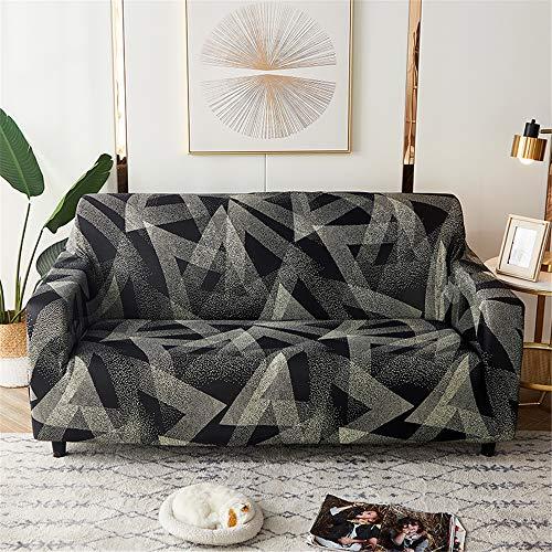 Funda Sofá de Universal Estiramiento, Morbuy Geometría Impresión Cubierta de Sofá Cubre Sofá Funda Furniture Protector Antideslizante Elastic Soft Sofa Couch Cover (Geometría Moderna,2 plazas)