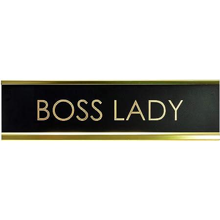Boss Lady Black Desk Name Plate for Boss