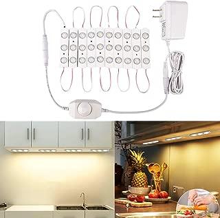 Autai Under Cabinet Lighting Kit, Closet Kitchen Counter LED Light Dimming Function Warm White 2700k