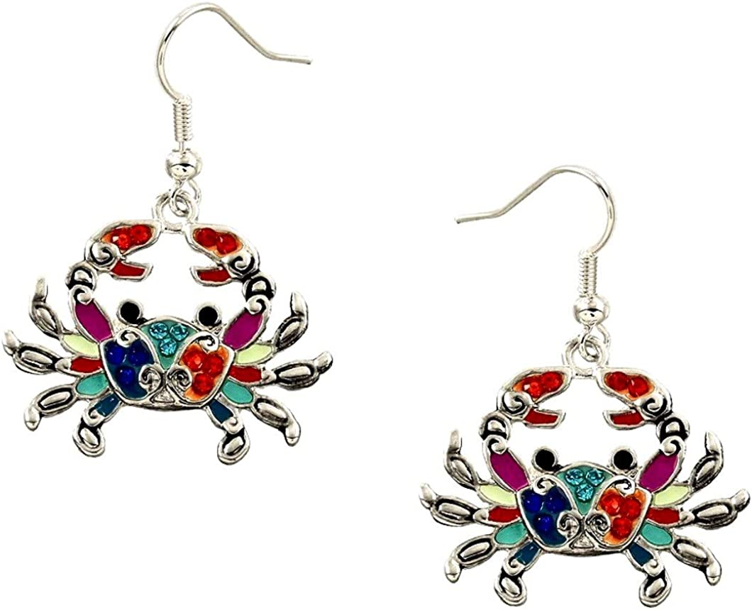 DianaL Boutique Crab Ranking TOP14 Earrings Fish Hook Enamel Jew Beads Ranking TOP2 Fashion