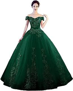 LEJY Women's Off The Shoulder Quinceanera Dress Applique Masquerade Ball Gownrom Dress