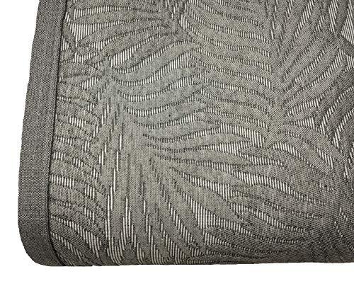 NORA HOME Colcha Piqué Palm Hojas de Jacquard. Todas Las Medidas Gris, 235x260 cm (Cama 135)