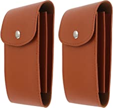 Hemobllo 2 Pcs Leather Watch Pouch Case Travel Watch Bag Wristwatch Storage Case Single Watch Strap Pouch Bracelets Organizer