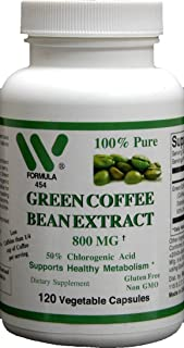 Green Coffee Bean Extract 800 Mg -120 Capsules - #4541