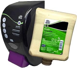 Kresto Special Ultra Hand Cleanser Paste 2 Liter Bottle (KSPU2LT) + Dispenser (HVY2LDB) Combo