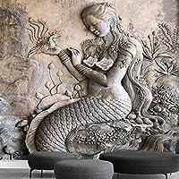 カスタム壁画 3D 立体レリーフ古典的な美容彫刻ホールの寝室のリビングルームの入り口の壁の絵画写真の壁紙,300(W)*210(H)Cm