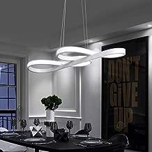 ZMH Lámpara Colgante LED Lámpara de techo Luz de Techo Iluminación Araña 38W Luz y Altura Adjustable (3500-6500k) con Control Remoto de para Comedor/Salón/Cafetería/Restaurante (Blanco)